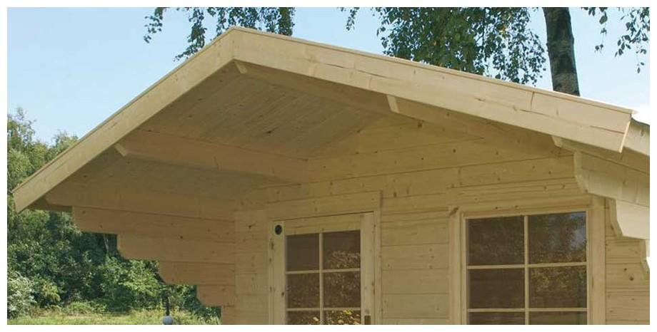 détail de la toiture de l'abri en bois de jardin Nicaragua simple porte de Luoman en situation