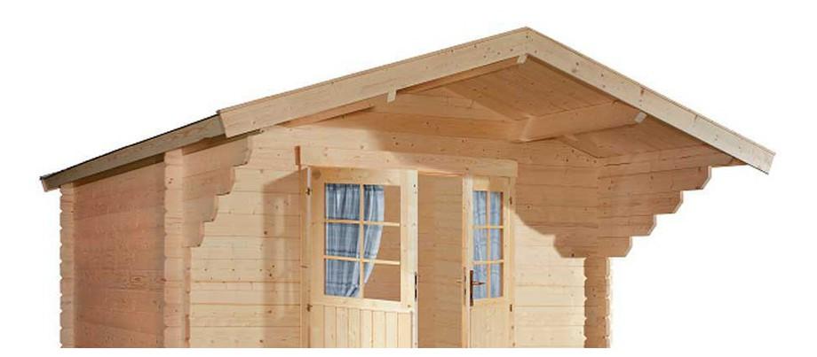 détail de la toiture de l'abri en bois de jardin Nicaragua double porte de Luoman en situation