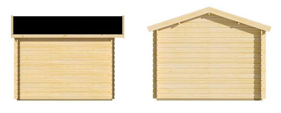 Détail des matériaux de l'abri de jardin en bois Leman Luoman en situation