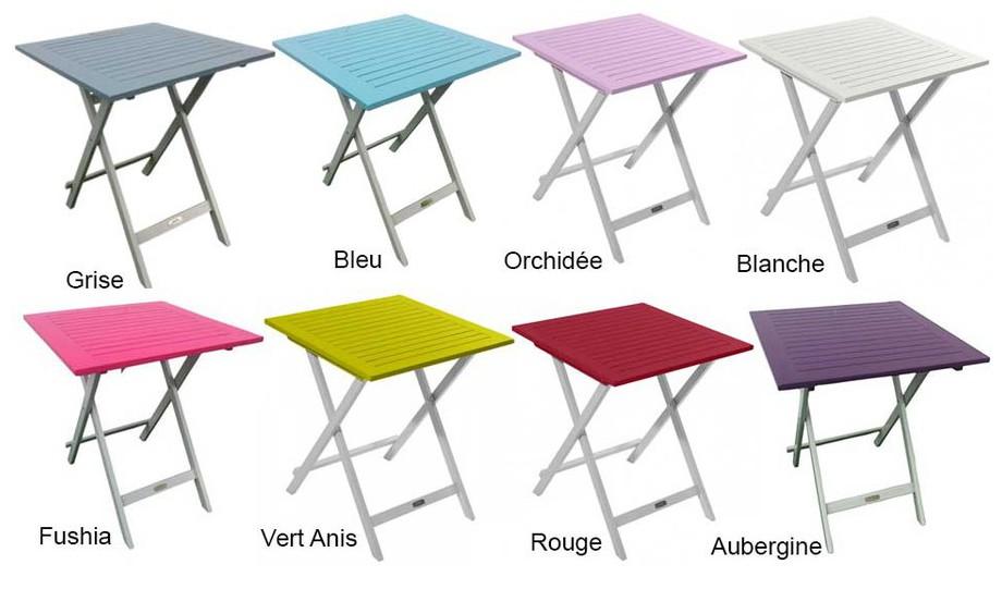Table en bois extérieur intérieur carrée pliante  Burano en situation