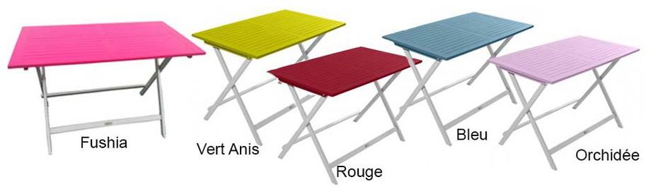 Table en bois extérieur intérieur rectangle pliante coloris Burano en situation