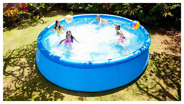 Facile et pas cher ma piscine easy set autoportante by for Grande piscine ronde hors sol