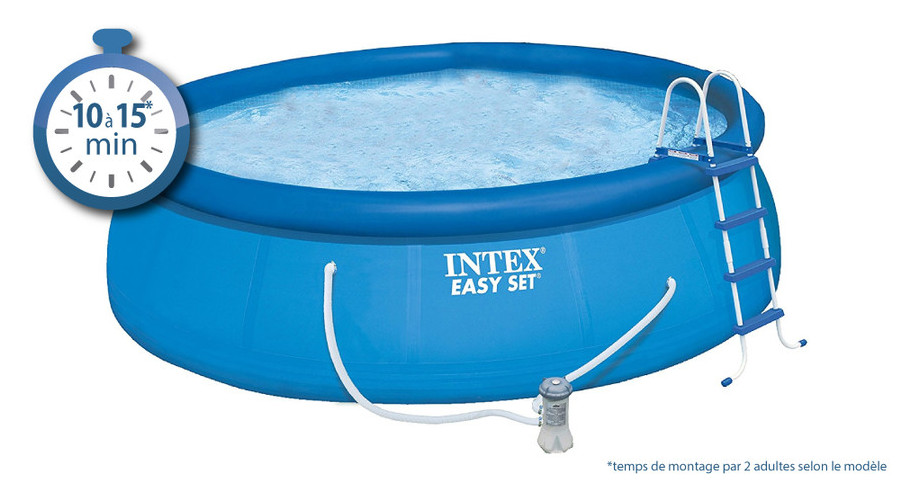 Easy Set - Kit piscine autostable ronde par Intex - installation en 15 minutes maxi !