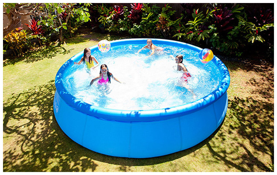 piscine hors sol intex easy set en situation
