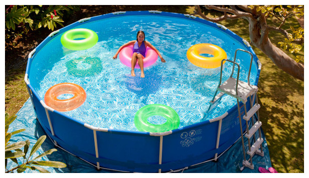 Belle piscine ronde tubulaire pas cher for Piscine hors sol intex ronde