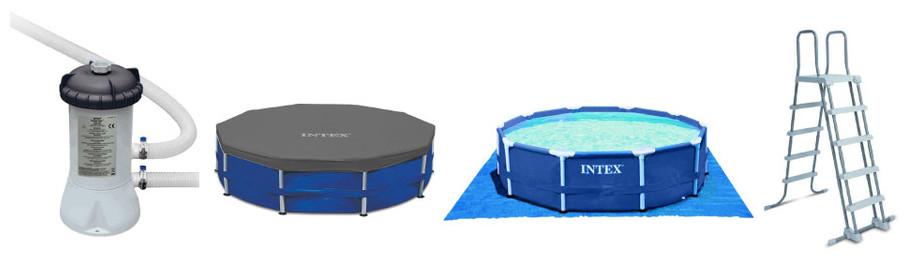 Metal Frame - Kit piscine tubulaire ronde par Intex