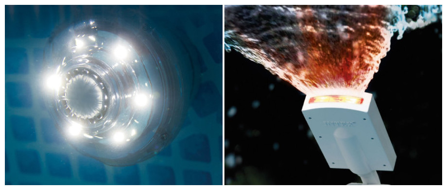 Metal Frame - Kit piscine tubulaire ronde par Intex - lampe led