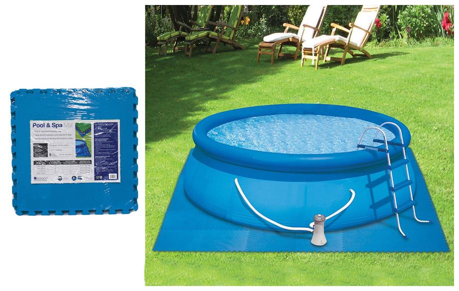 dalles de protection pour piscine hors sol