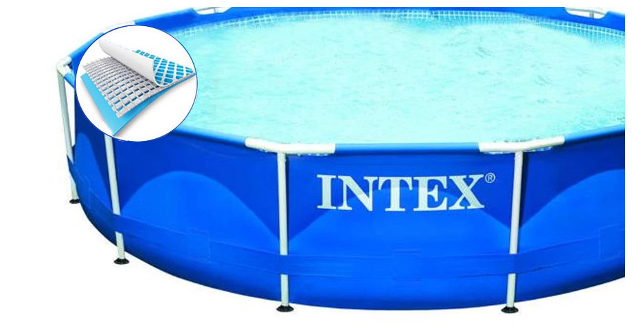 structure de la piscine intex metal frame