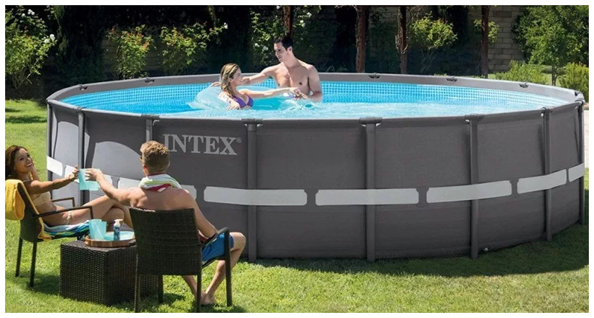 piscine hors sol intex ultra frame en situation