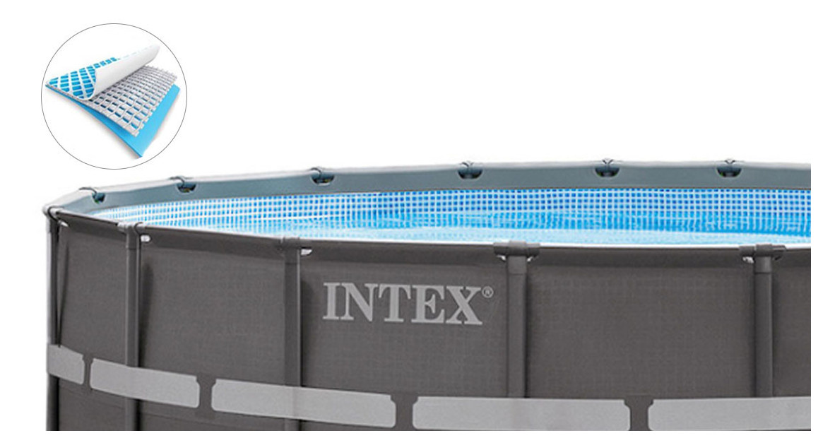structure de la piscine hors sol intex ultra frame