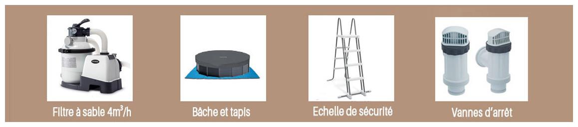 accessoires piscines ontex ultra frame intex