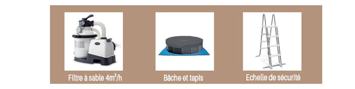 accessoires inclus avec la piscine hors sol intex ultra frame ronde