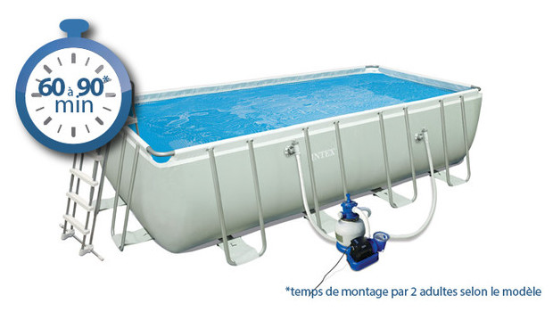 Facile de plonger dans la fraicheur avec la piscine intex for Montage piscine intex