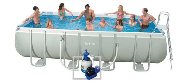 Piscine intex ultra silver piscine center net for Piscine tubulaire intex rectangulaire