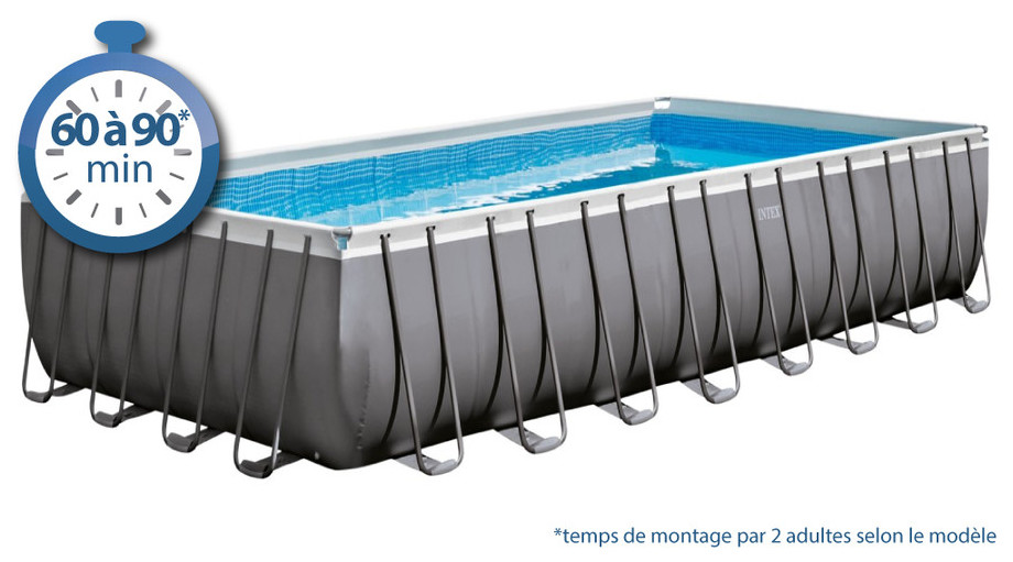 piscine tubulaire ultra silver 457 x 274 x 122 intex
