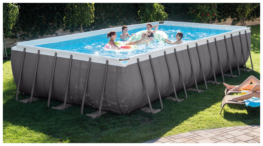 Piscine intex ultra silver piscine center net for Enrouleur bache piscine hors sol tubulaire intex