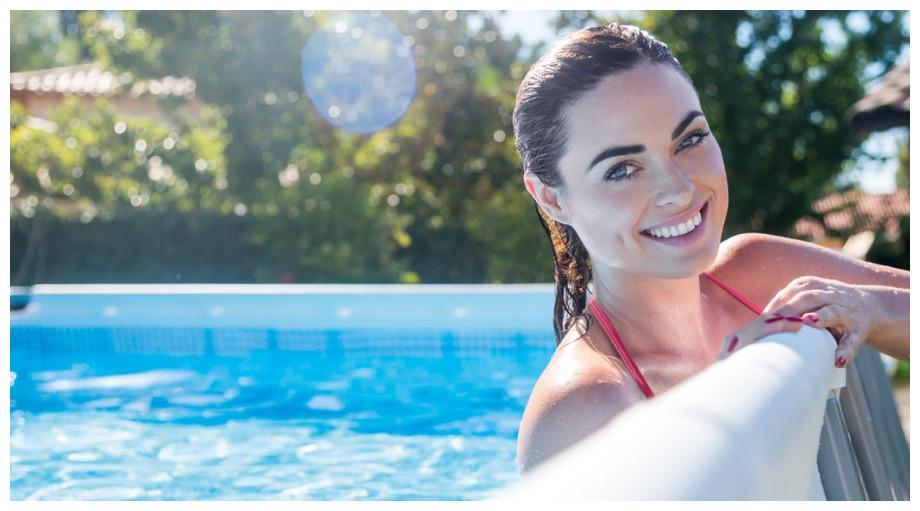Ultra Silver - Kit piscine tubulaire rectangulaire par Intex