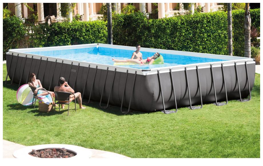 piscine intex ultra silver en situation