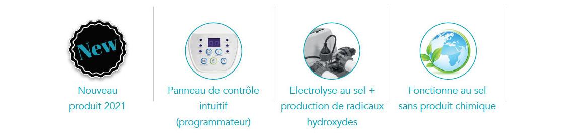 électrolyseur au sel krystal clear intex