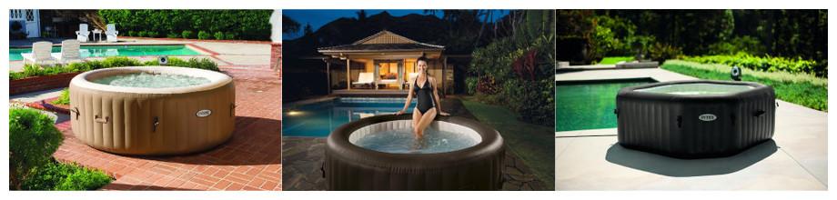 Intex Pure Spa gonflable à domicile - 6 modèles de 4 à 6 personnesw