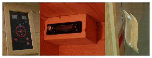 equipement pour cabine de sauna infrarouge