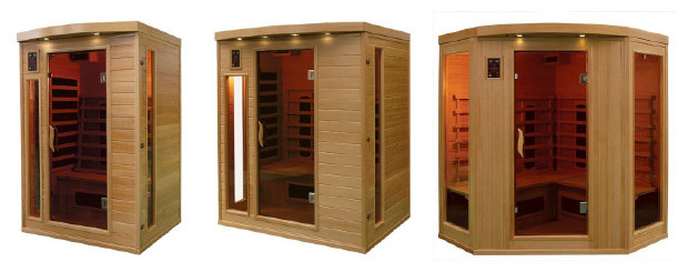 cabine de sauna infra rouge en bois hemlock piscine center net. Black Bedroom Furniture Sets. Home Design Ideas