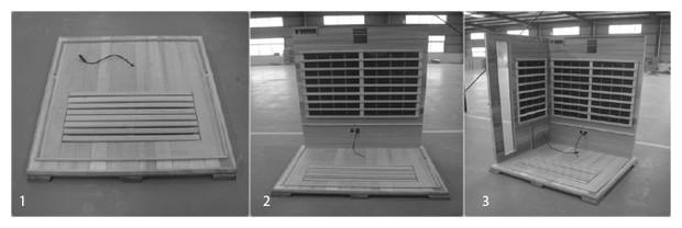 sauna infrarouge hemlock astral - montage