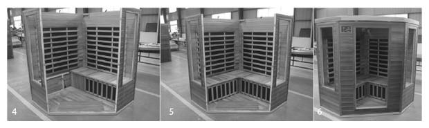 sauna infrarouge astralpool - montage d'angle 4