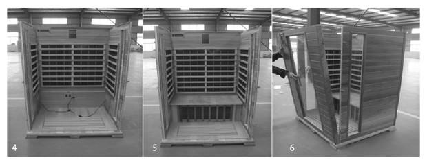 cabine sauna infrarouge cedre rouge - mointage 2