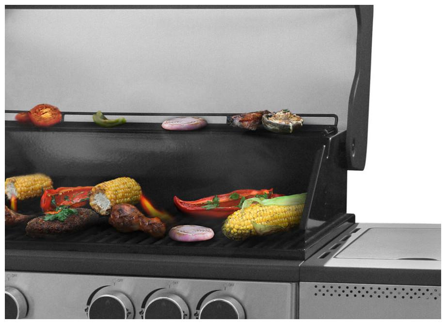 Burbank - Barbecue gaz à allumage automatique - zoom cuisson