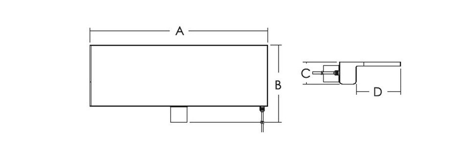 dimensions lame d'eau de 300 à 600 mm
