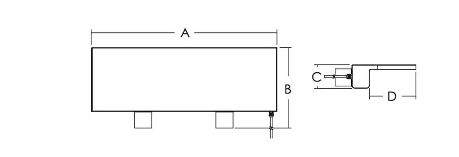 dimensions lame d'eau de 1200 mm