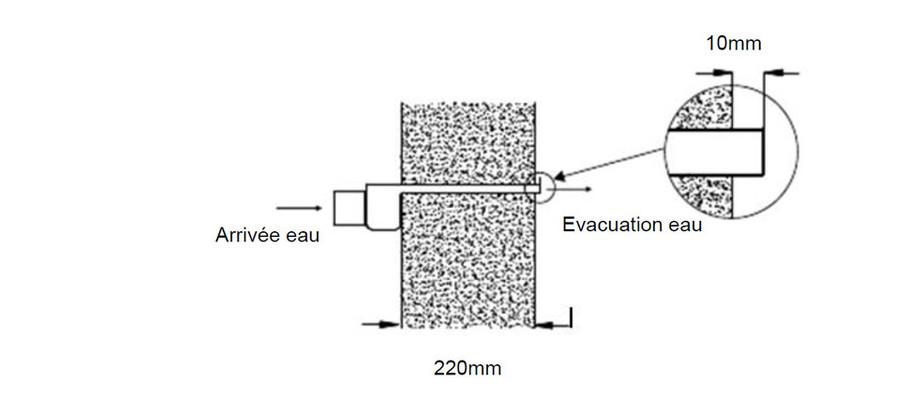 installation mur calcaire lame d'eau