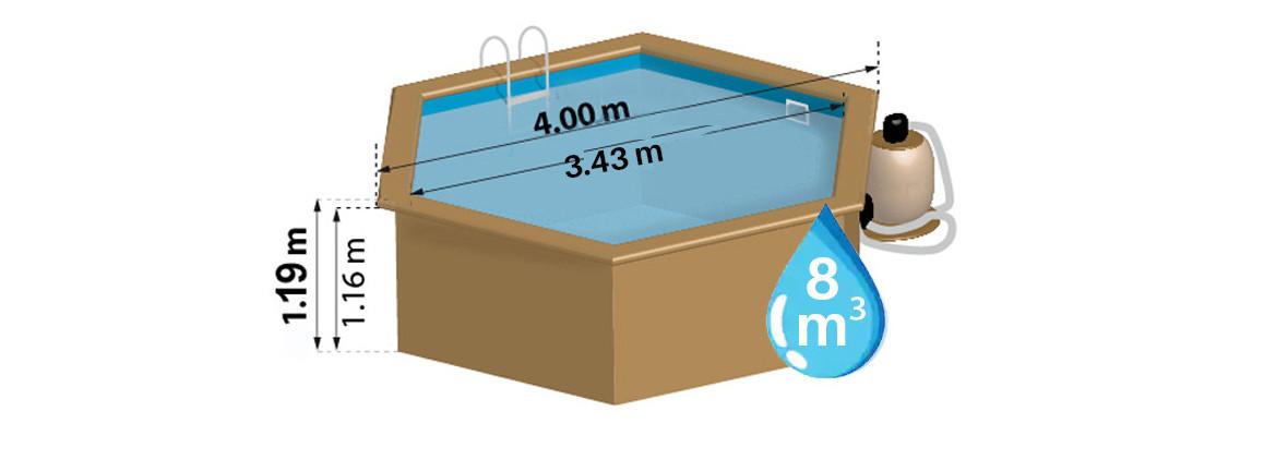 dimensions de la piscine bois woodfirst vanille