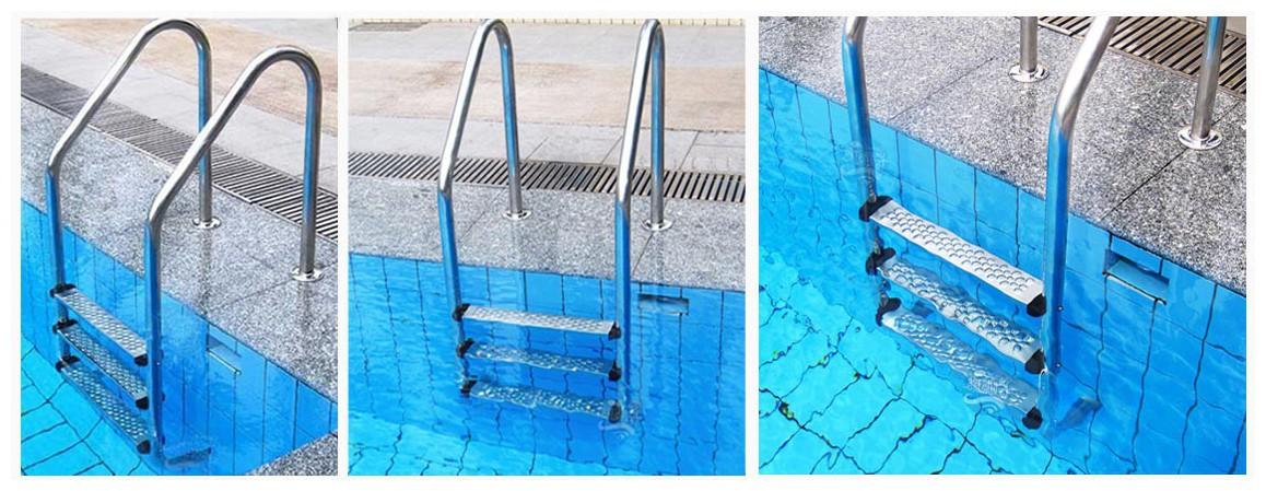 aperçu de l'échelle standard tout inox pour piscine enterrée