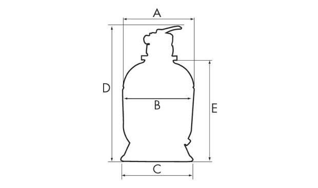 filtre à sable pro top hayward dimensions