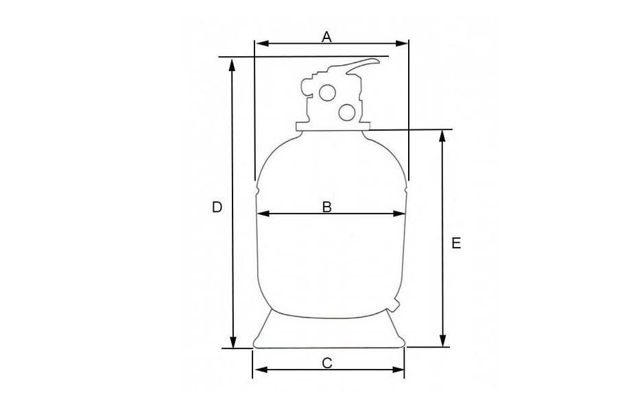 dimensions du filtre à sable pour piscine Hayward Série Top