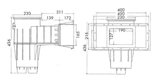 skimmer hayward dimensions