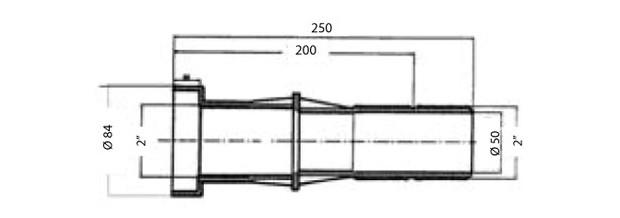 traversée de paroi hayward pour piscine - schema et dimensions