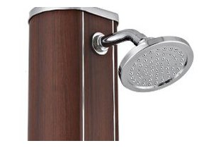 douche piscine wood alu - detail pommeau