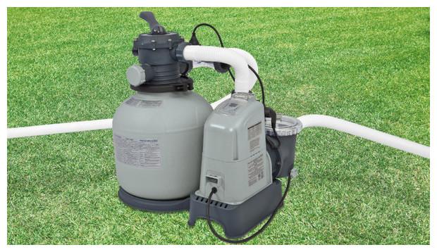 Intex - filtre + électrolyseur combiné