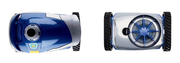 robot hydraulique pour piscine MX6 par zodiac - vue dessus et dessous
