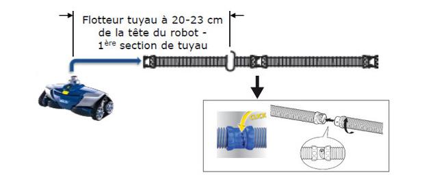 robot hydraulique MX6 par zodiac pour piscine 10 x 5 m max