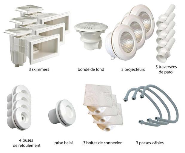Kit pièces à sceller blanches piscines liner - N°3
