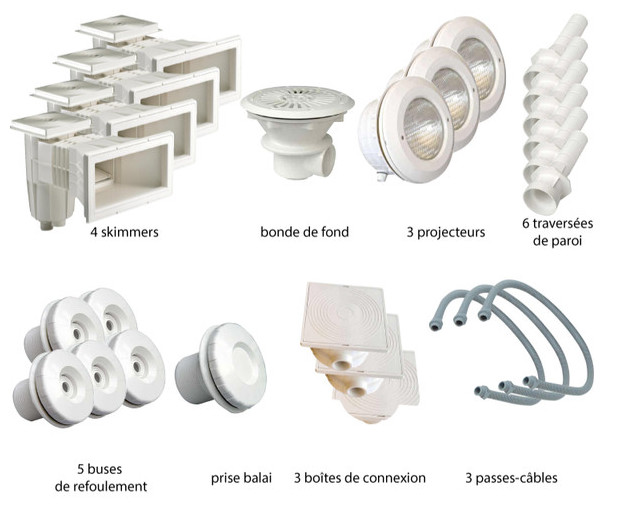 Kit pièces à sceller blanches piscines liner - N°4