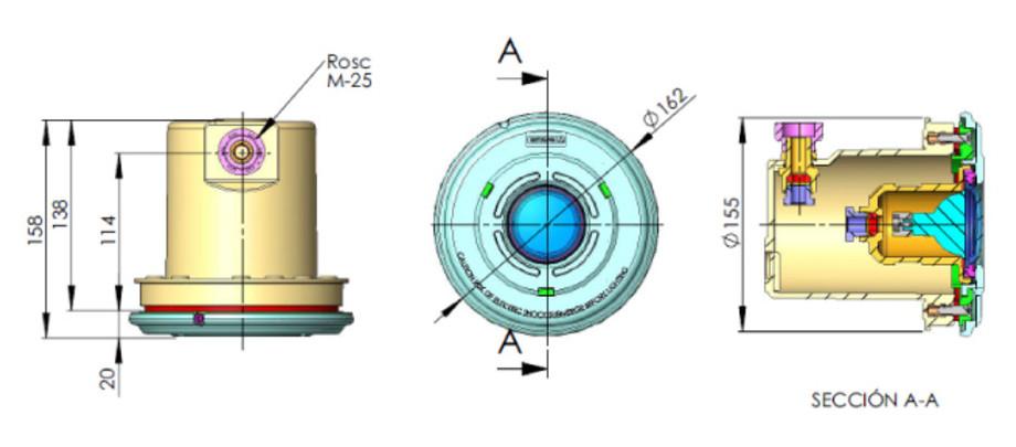 Projecteur plastique MINI avec niche pour piscines liner