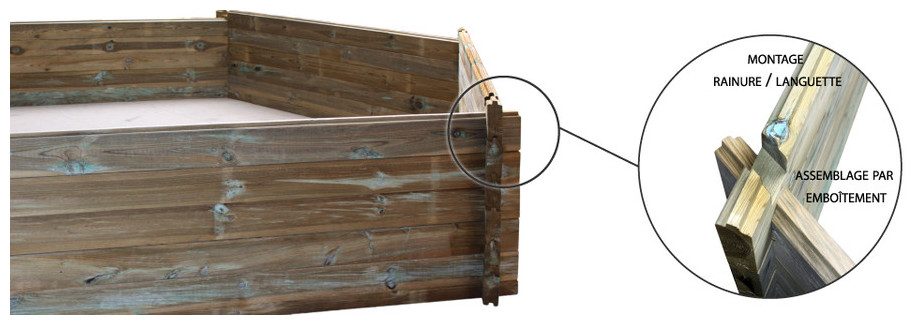 Woodfirst original kit octo allong 551x351 h 120 cm for Liner piscine en bois octogonale