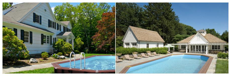 piscine de bois en kit a monter soi-même woodfirst original  -  mise en situation