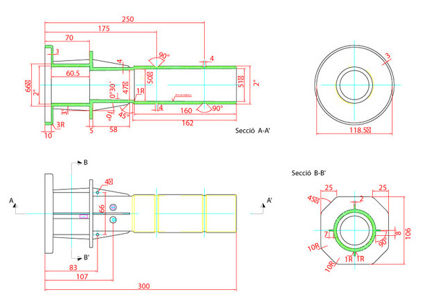 Traversée de paroi pour piscines liner - dimensions